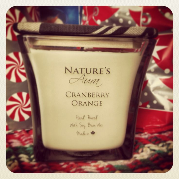 Although our Cranberry Orange scented soy candle isn't part of our holiday featured scents we feel it is still a great scent for the holiday season. What do you think?  Order your 12oz. hand poured and hand crafted scented soy candle by going to www.natures-aura.com/shop
