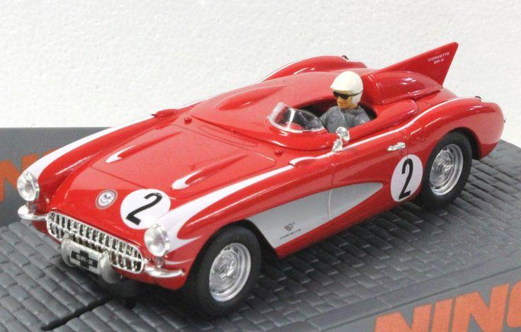 NINCO 50584 CHEVROLET CORVETTE SR2 DAYTONA 1956 SPEED RECORD NEW 1/32 SLOT CAR #NINCO