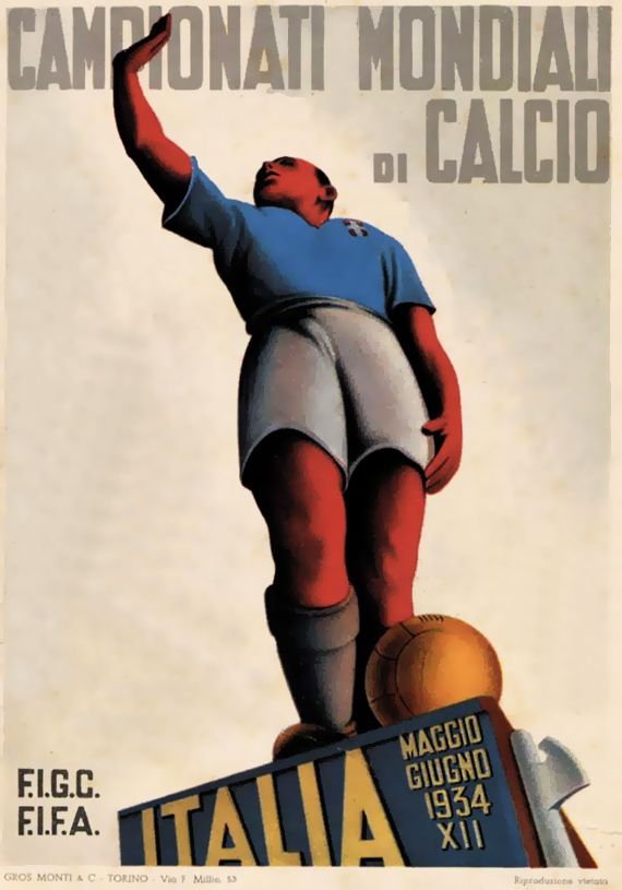 FIFA World Cup 1934 Postcard