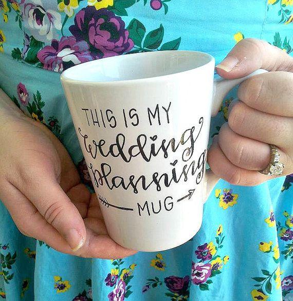this is my wedding planning mug - custom engagement bridal shower gift mug.