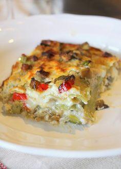 Lasagne verdi con Verdure e Crema di Ricotta