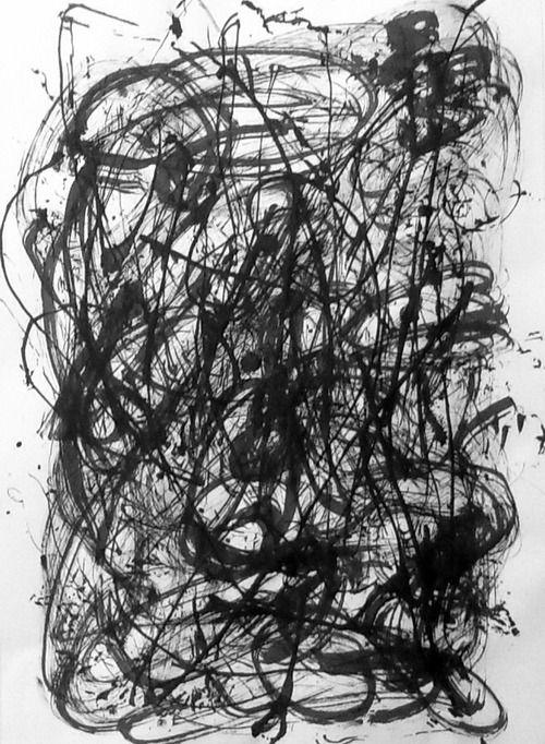 """Frustration"" India ink on Cartridge Paper Sept 2013"