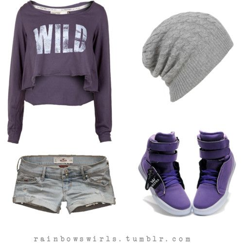 Polyvore Swag Outfits | It's purple swag time. C: New Hip Hop Beats Uploaded EVERY SINGLE DAY http://www.kidDyno.com... Shorts just wayyyyyyyyyy to short!!!
