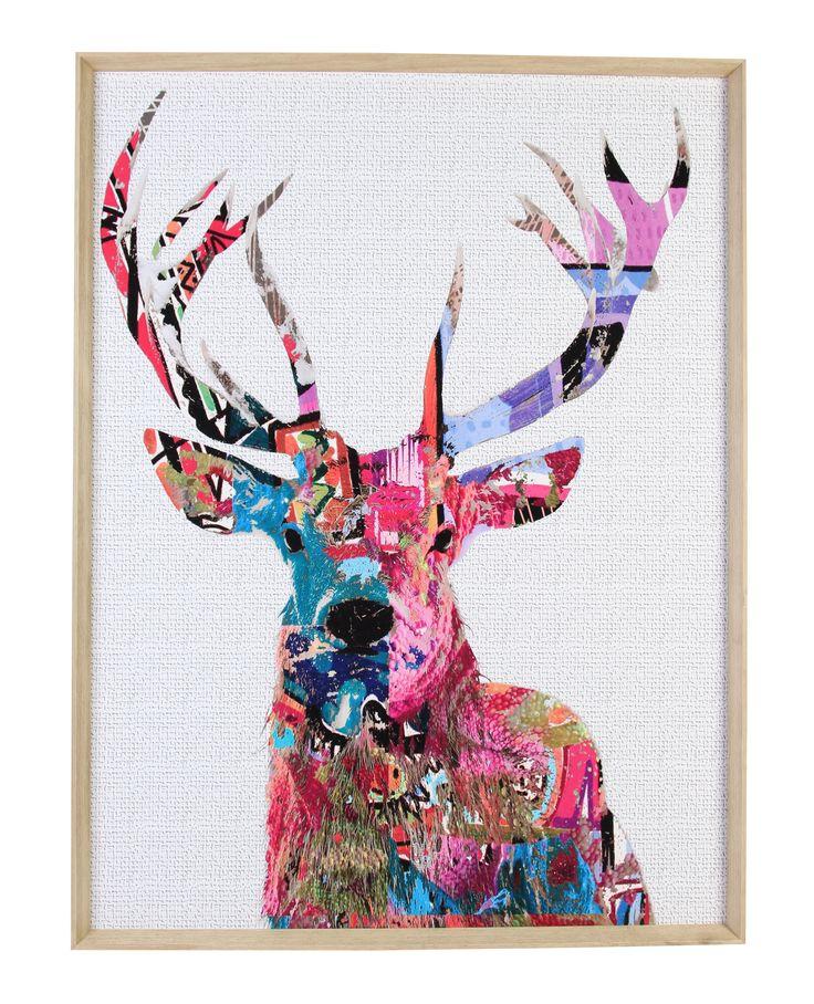 Jual Wall Art Print : Dandy deer framed print  wall art