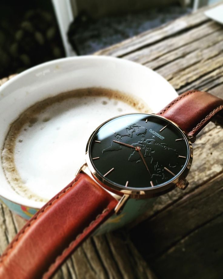Cappucino for lunch, who did that before? #flachsmannwatches #worldmapwatch #swissbrand #cappucino""