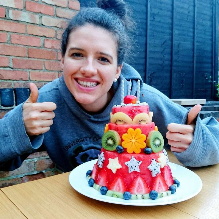 How to make a watermelon cake with real melon #healthy #vegan #glutenfree