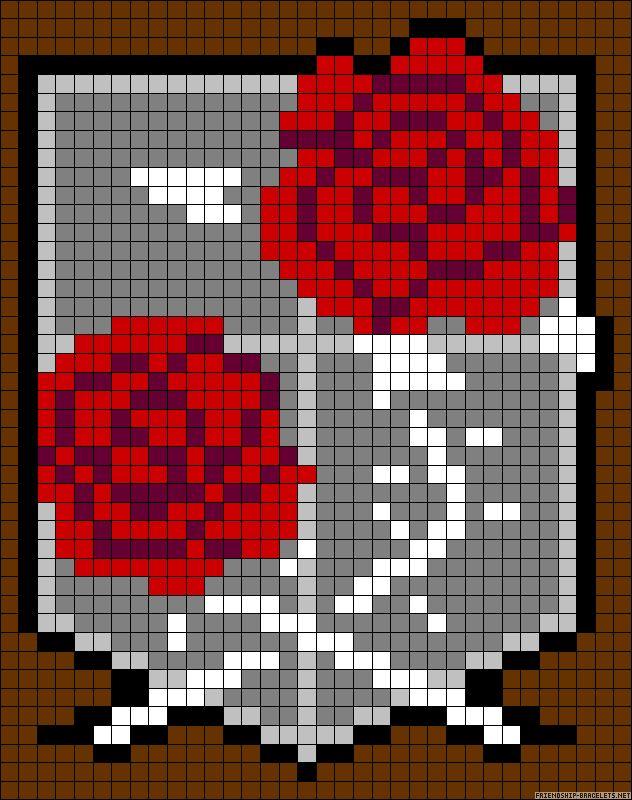 Shingeki no Kyojin | Attack on Titan | Stationary Corps | Friendship bracelet pattern