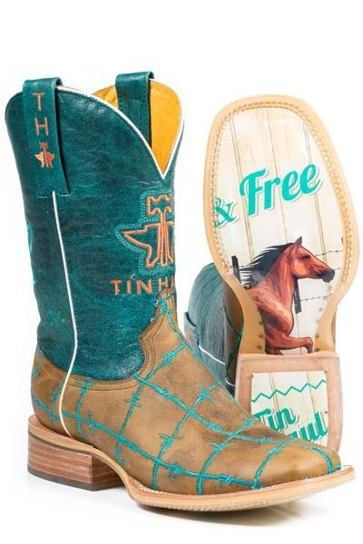 TIN HAUL - Women s Barb d Wire Boots - Wild and Free Sole - ( 21007191 ) - New