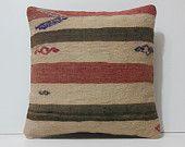 cream pillow case 18x18 coral pillow cover black cushion cover striped pillow cover striped throw pillow red striped kilim pillow sham 17010