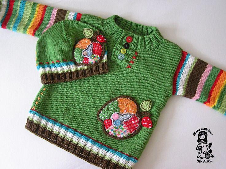 Pletený svetr pro děti - návod zdarma