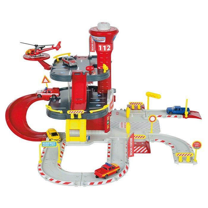 Garage Giocattolo Garage Majorette dei Pompieri   Garage per Bambini