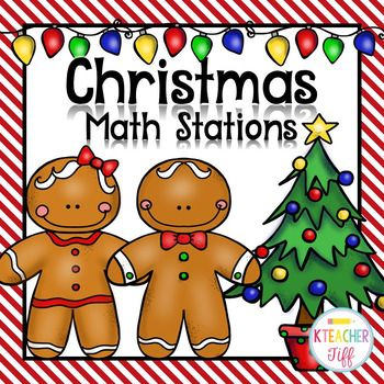 ***These Christmas math stations are part of a larger bundle!*** CLICK HERE to save on math stations for the entire year!This math station pack includes over 10 math centers that are easy for kindergarten students to do independently. Many activities include optional recording sheets for extra accountability.
