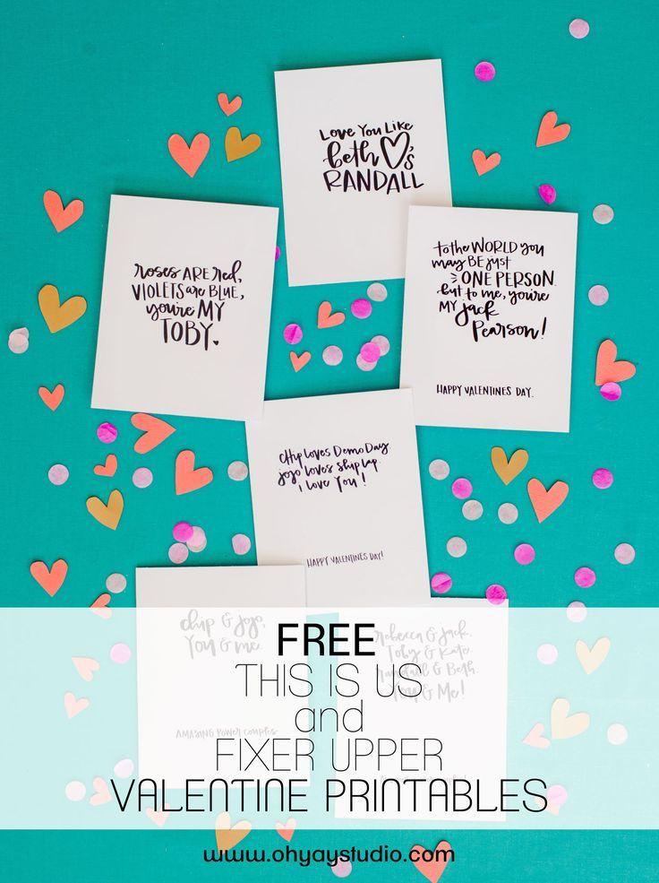 Fixer Upper + Dies ist uns kostenlos VALENTINES Ausdrucke!   – Oh Joy Studio 2.0 Inspiration