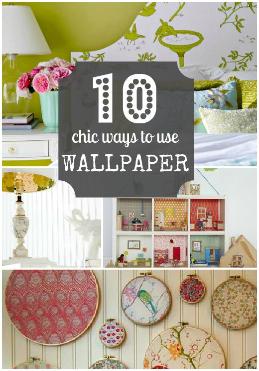Wallpaper can be a fun way to make a statement, but unfortunately it can also be intimidating and pricey.   Pretty Please   Wallpaper crafts, Home crafts, ...