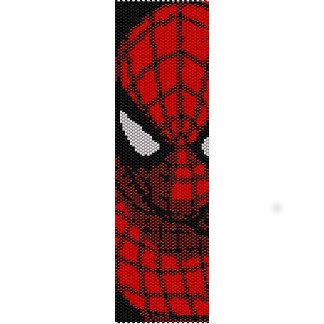 Spiderman - beading cuff bracelet pattern for peyote OR loom ( Buy Any 2 Patterns - 3rd. Free ) - pdf. $5.71, via Etsy.