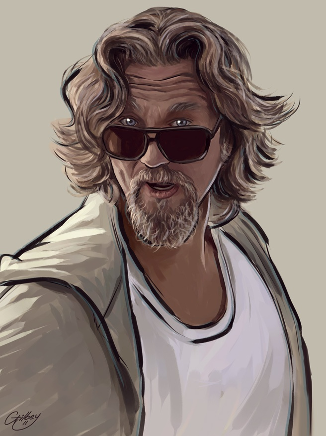 The Dude Big Lebowski artwork copyright Sam Gilbey