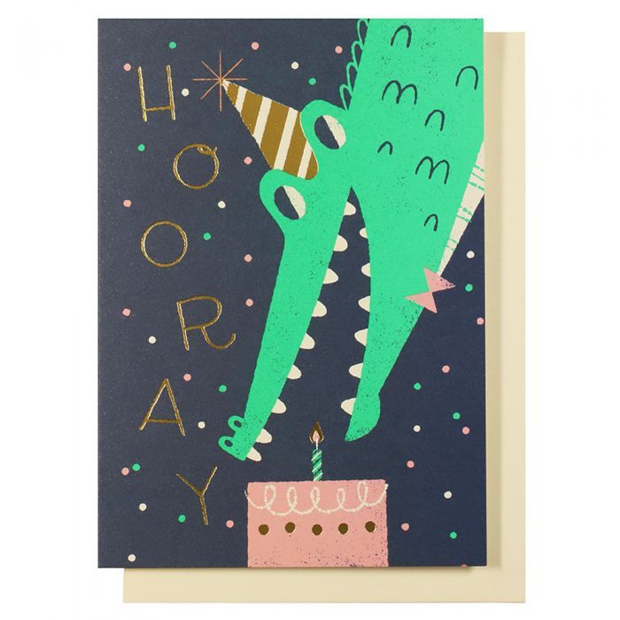 Hooray Crocodile Birthday Card Paperchase Greeting Card Illustration Happy Birthday Illustration Card Illustration
