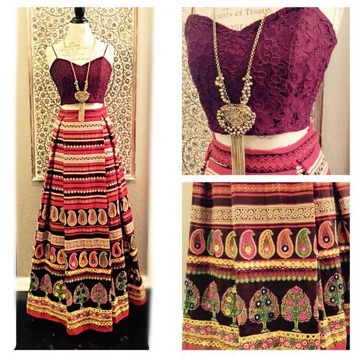 Boho inspired Indian lengha designed by @holichicbymegha www.holichicbymegha.com