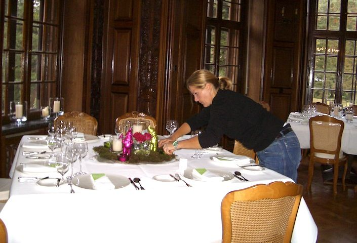 Christine von www.cg-wohnaccessoires.de fleissig an der Arbeit!
