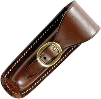 Australian Made leather knife pouch with brass buckle