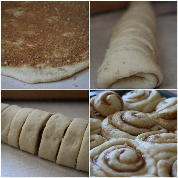 Ingredients: 2 +1/2 cups Bisquick 2/3 c. Milk 2 tbsp sugar 2 Tbsp butter softened 1 Tbsp ground cinnamon + 2 Tbsp sugar 1/4 c. raisins if desired Frosting 1 1/2 c. powdered sugar 1/4 c. butter softened 2 tbsp milk 1 teas vanilla How to make it Heat oven to 375. Grease rectangular pan. Stir Bisquick, milk and 2 Tbsp sugar until dough forms; beat 20 strokes. Place dough on surface sprinkled with Bisquick; roll in Bisquick to coat. Shape into ball, knead 10 times. Roll o...
