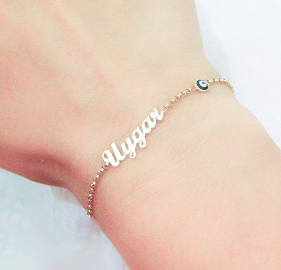 44 best personalized jewelry with your name on it images on personalized name bracelet new baby gift baby name by eleajewelry 4800 negle Images