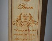 Wedding Engraved Wine Box, Groomsmen gifts, Wedding party gifts, Engraved wedding gifts