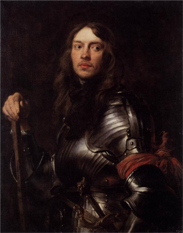 Portrait of a Man in Armour with Red Scarf, 1625-1627  Anthony van Dyck