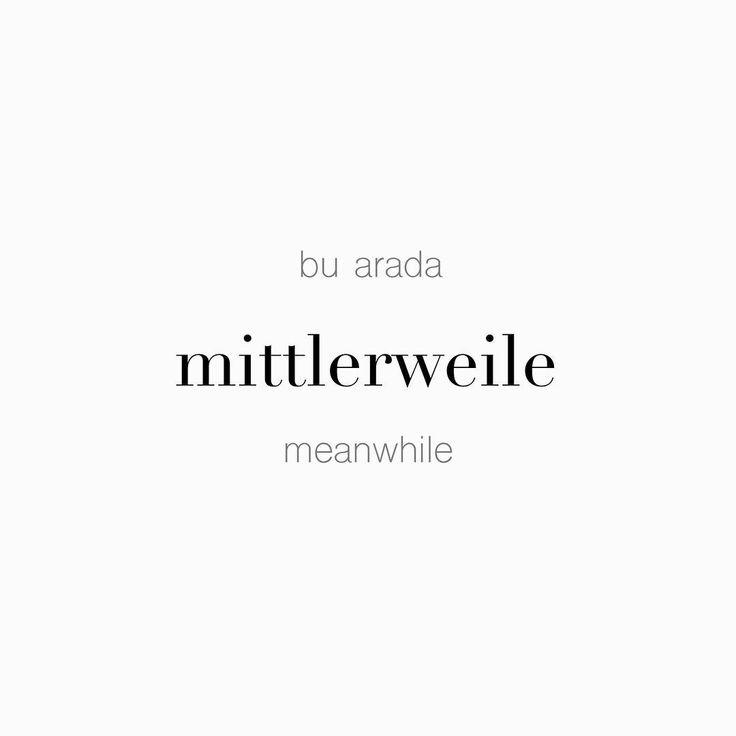 """52 Beğenme, 1 Yorum - Instagram'da Täglich ein Wort (@taglicheinwort): """"bu arada • mittlerweile • meanwhile"""""""