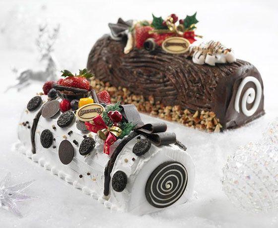 Christmas ice cream log cakes from Swensen's, Singapore