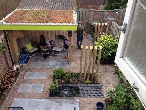 Meer dan 1000 idee n over tuin palen op pinterest glazen for Kleine voortuin ideeen foto s