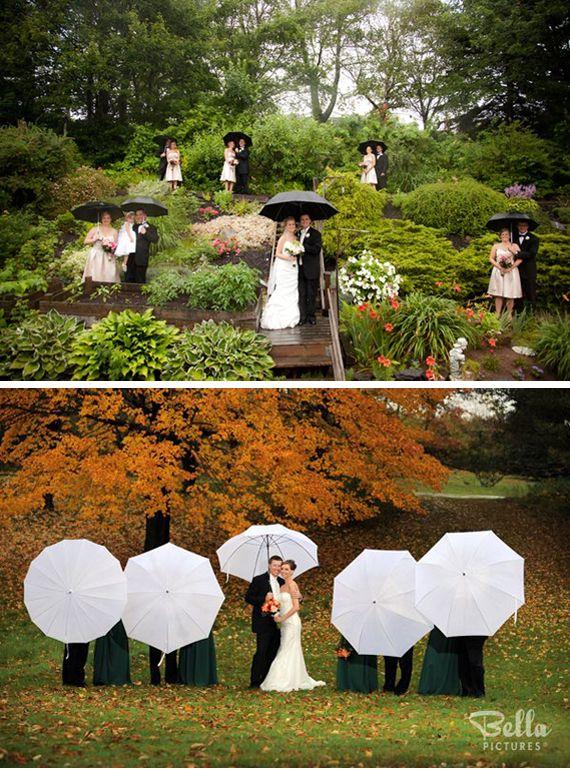Photo cortège mariage pluie