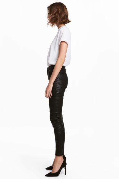 Skinny Jeans - Black/Coated - Ladies | H&M GB 1