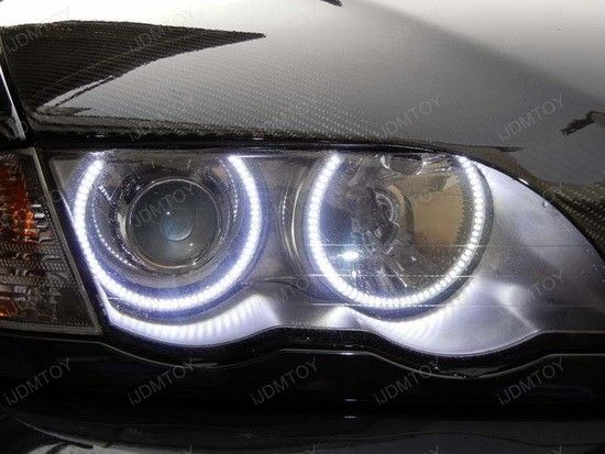 Check out this 2005 BMW M3 with the featured bad-ass BMW E46 Angel Eyes and I bet you'll be struck by the whole new hot appearance. As we all know, the LED Angel Eyes are typically the first mod most E46 (BMW 3 Series) owners do to their vehicles. And since 2005 BMW M3 headlights are perfectly shaped for them, iJDMTOY.. WANT THESE