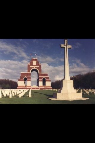 Thiepval Memorial. Davud Bowie's grandfather Robert Haywood Jones died on the 18th Nov 1916 in France. He was 33050 King's Own Yorkshire Light Infantry 2nd Bn and is commemorated on the Thiepval Memorial (pictured). David's middle name is Robert Haywood and so it is likely he was named after this man.