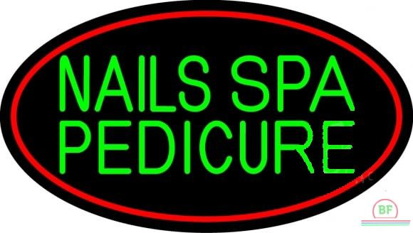 Nails Spa Pedicure Neon Sign Real Neon Light