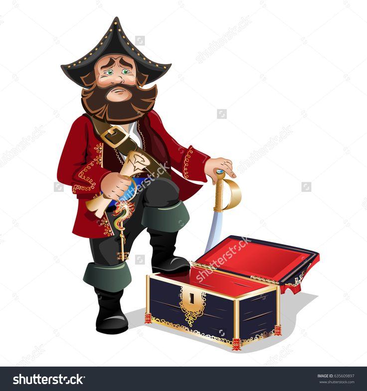 Empty Treasure Chest and Pirate