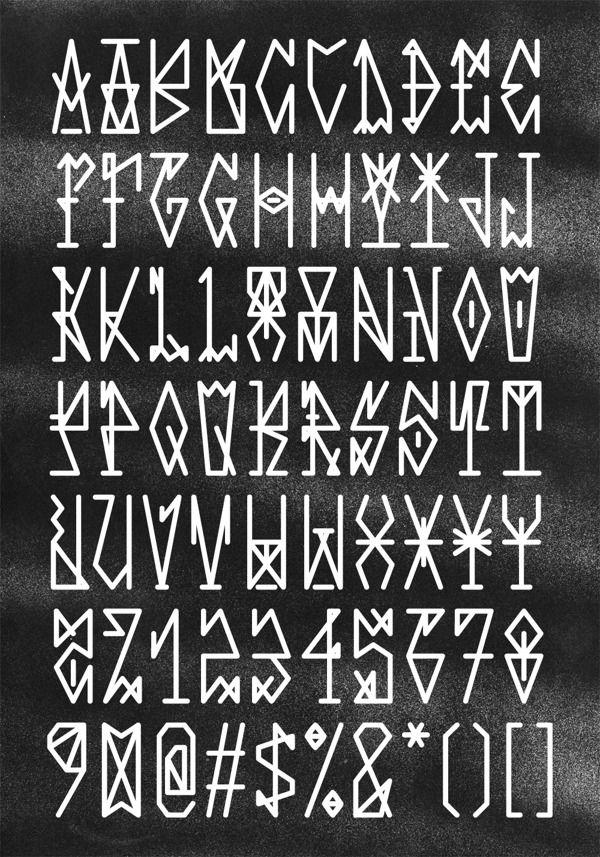 23 Free Geometric, Angular, Rune-esque Style Fonts