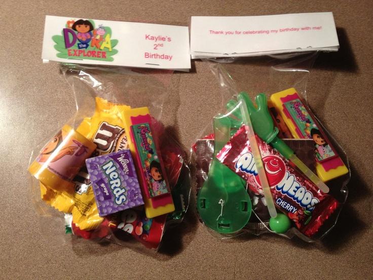 Diy Dora Birthday Party Labels Goodie Bags Kids