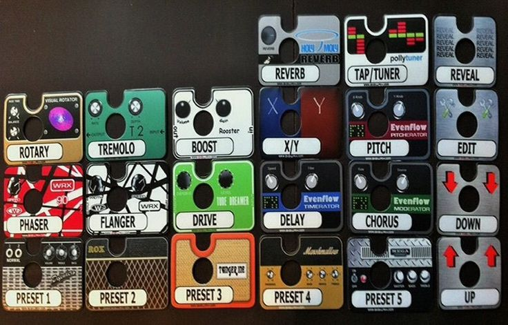 GIGWRX Premade Pedal/Amp Magnetic Labels For Fractal Audio MFC-101