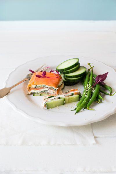 Smoked Salmon, Watercress & Mustard Terrine with Sesame Green Beans  |  Crush Online