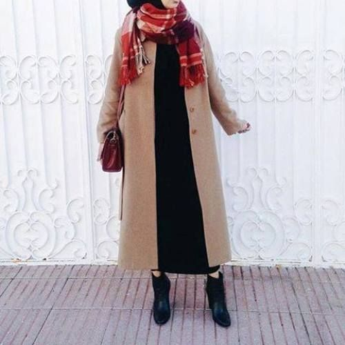 tan coat hijab style, Hijab chic from the street http://www.justtrendygirls.com/hijab-chic-from-the-street/