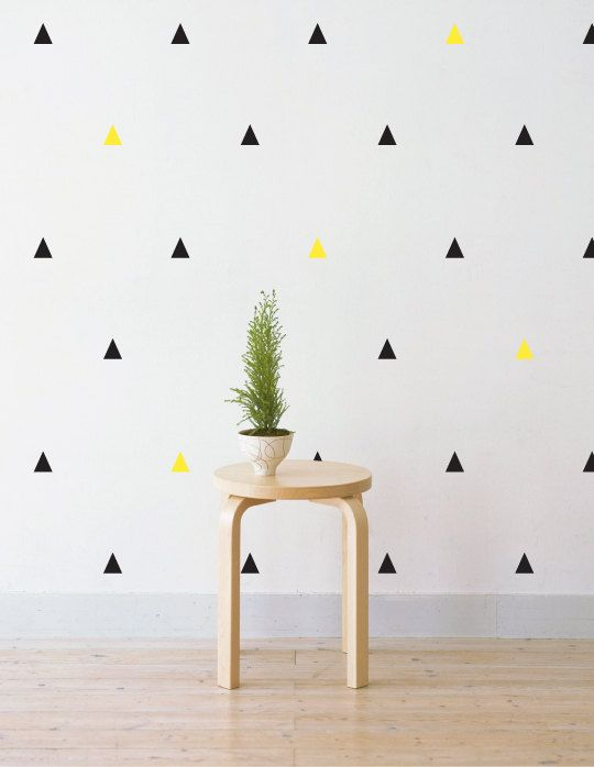 party triangles removable wall decal sticker for home office nursery lsb0219vcc - Wall Sticker Design Ideas