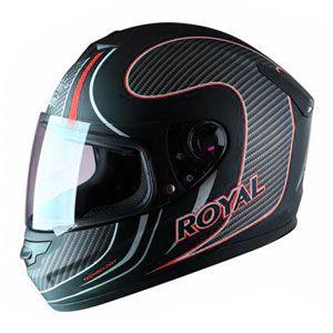 Mũ bảo hiểm fullface Royal M07 đen đỏ trắng nhám