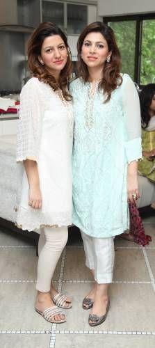 AMBER LIAQAT with Easy breezy summer style, MARIUM ELLAHI ATIF - Loving the Ayesha Somaya digital kurta and embellished pants, SEHR ADNAN AND SAMEEN KASURI -