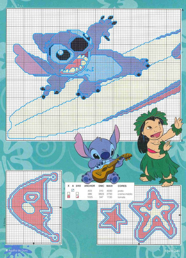 21 best lilo and stitch images on pinterest cross stitch for Lilo and stitch arts and crafts