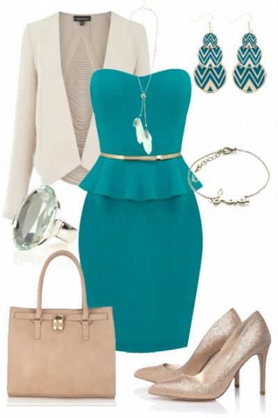 Super feminine peplum outfit