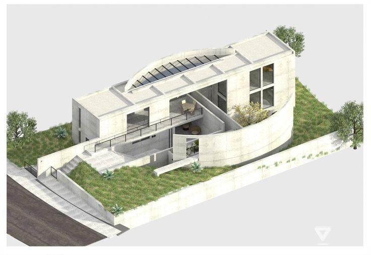 Iwasa House  Ensaios 3D  Tadao Ando House design e House