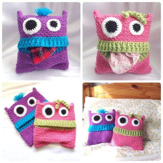 Pyjama Monsters - Pajama Case - Crochet PDF Pattern