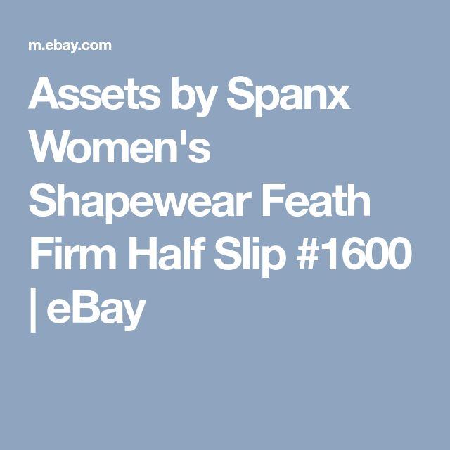 Assets by Spanx Women's Shapewear Feath Firm Half Slip #1600 | eBay
